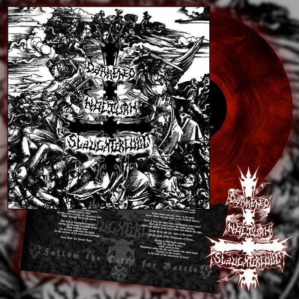 Darkened Nocturn Slaughtercult - Follow The Calls For Battle [red/black galaxy - 300], LP