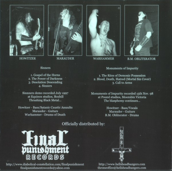 Gospel Of The Horns - Sinners/Monuments Of Impurity, CD