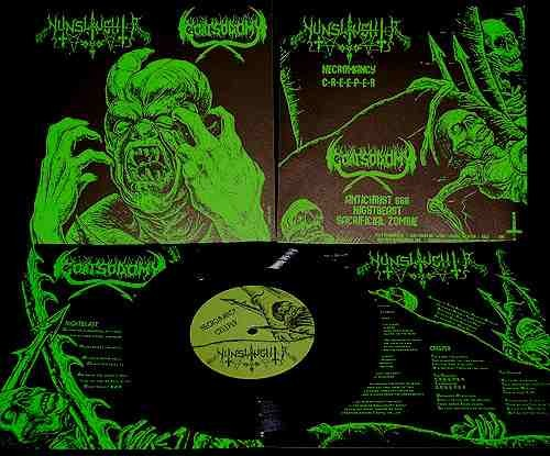 Nunslaughter/Goatsodomy - Split, 7""