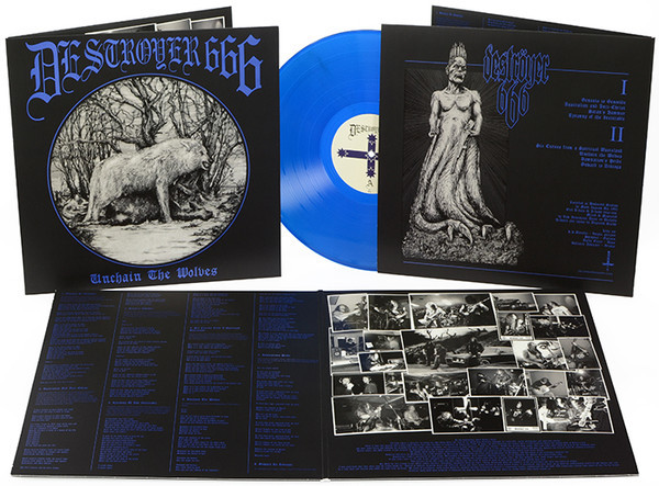 Destroyer 666 - Unchain the Wolves [blue], LP