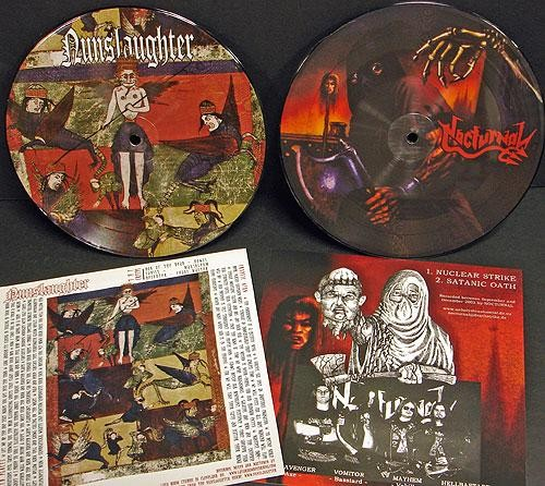 Nunslaughter/Nocturnal (Ger) - Split, Pic7""