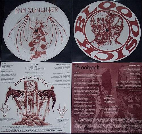 Nunslaughter/Bloodsick - Split, Pic7""