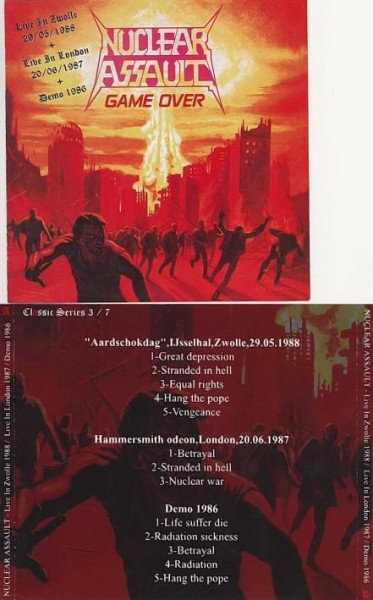 Nuclear Assault - Live in Zwolle 1988 + Hammersmith Odeon 1987 + Demo 1986, CD