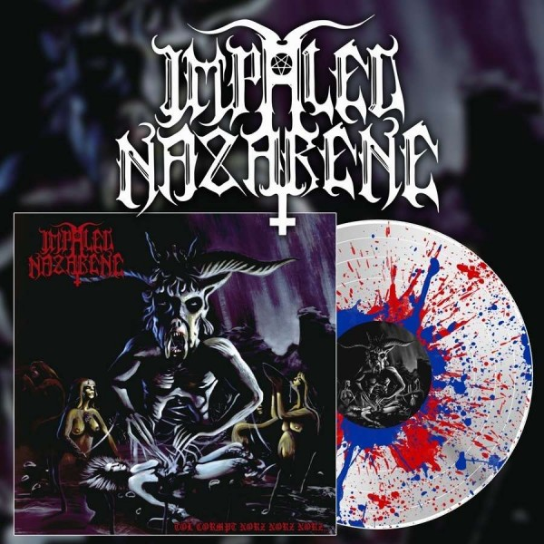 Impaled Nazarene - Tol Cormpt Norz Norz Norz... [white/red/blue splatter - 500], LP