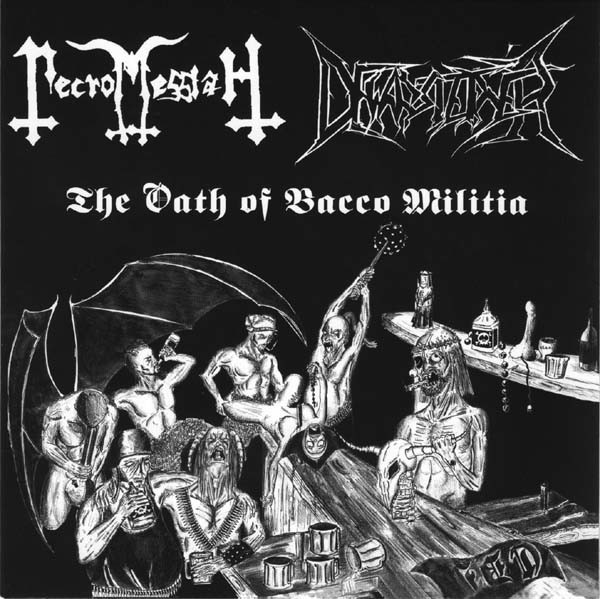 """Necromessiah/Dewarsteiner - Split, 7"""""""