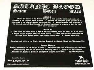 Satanic Blood - Satan Boven Alles, LP