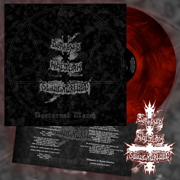 Darkened Nocturn Slaughtercult - Nocturnal March [red/black galaxy - 300], LP-Copy