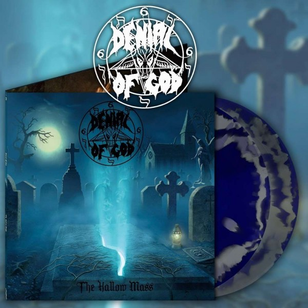 Denial Of God - The Hallow Mass [silver/blue - 400], 2LP