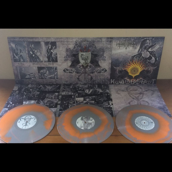 Nokturnal Mortum - Kolovorot [grey/orange swirl - 300], 3LP